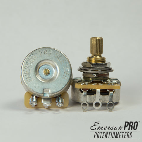 "EMERSON PRO CTS - 250K BLENDER SHORT (3/8"") SPLIT SHAFT POTENTIOMETER"