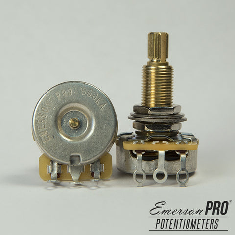 "EMERSON PRO CTS - 500K LONG (3/4"") SPLIT SHAFT POTENTIOMETER"