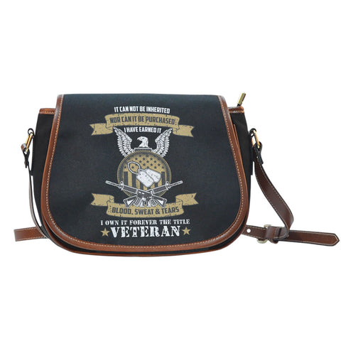 U.S Veteran Custom Saddle Bag