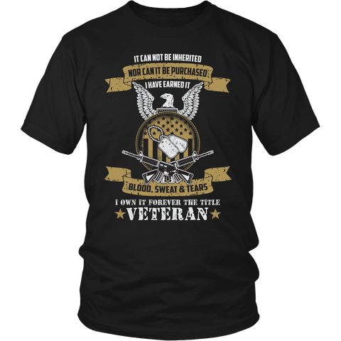U.S Veteran Custom T-shirt