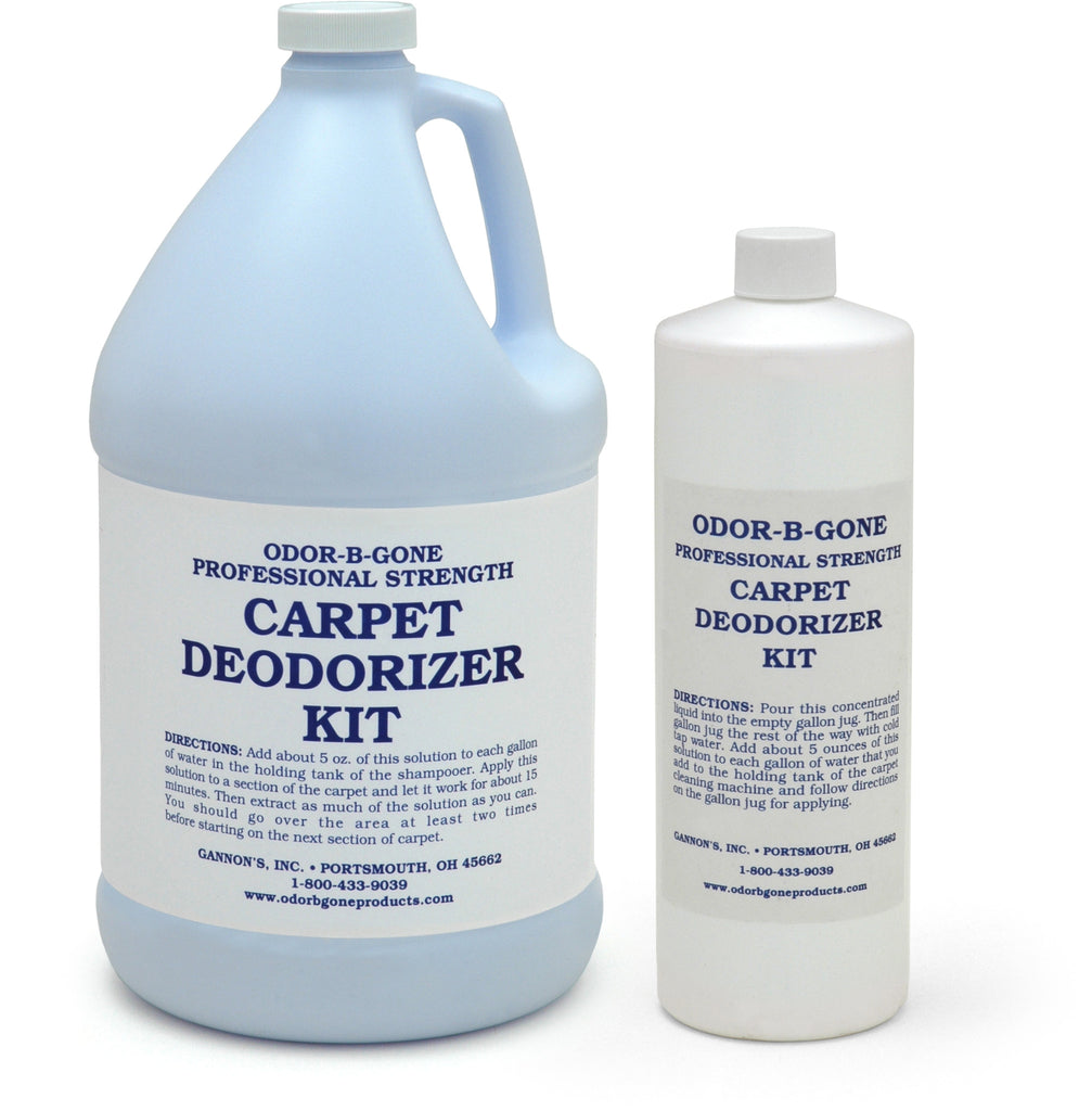 Odor-B-Gone, Professional Strength Carpet Deodorizer Kit - Concentrate for Carpet Shampooers