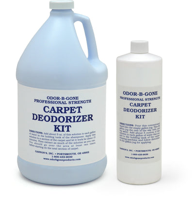 Professional Strength Carpet Deodorizer Kit - Concentrate for Carpet Shampooers