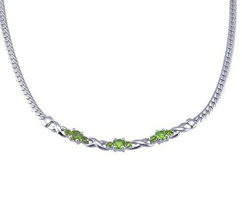 Peridot Green Sterling Silver Necklace