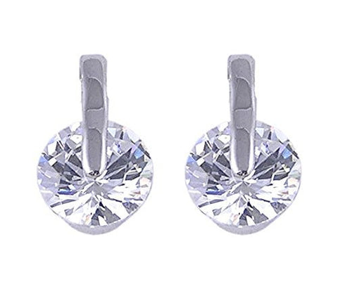 Cubic Zirconia Rhodium Plated Earrings