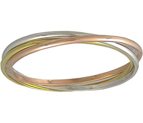 Tri Color Rolling Bangle Bracelet