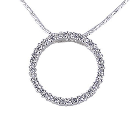 Circle of Life Cubic Zirconia .925 Sterling Silver Pendant
