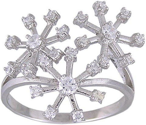 Cubic Zirconia .925 Sterling Silver Rhodium Plated Ring