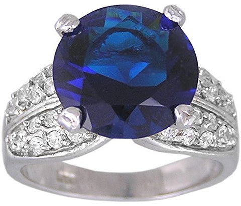 Blue Cubic Zirconia Ring