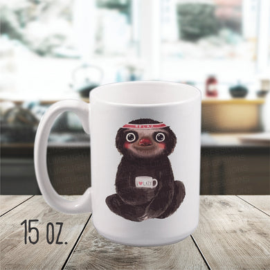 15 ounce Sloth Mug, Coffee Cup, Funny Sloth Mug, Lazy Sloth, Cute Sloth Mug, Spirit Animal Sloth Mug, Sloth Gift, Funny Mug, Sloth Mug Gift