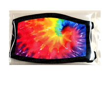 Made in the USA-Rainbow Tie Dye Face Mask, Punk Rock Face Mask, Hippy Face Face Mask, Fun Mask, Mask for Kids, Matching Masks, Fun Face Mask