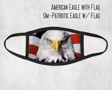Made in the USA- Eagle on American Flag Face Mask, Eagle Face Mask, American Flag Face Mask, Adult Mask, Mask for Kids, Matching Masks,
