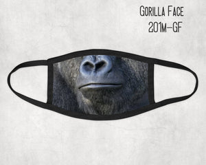 Made in the USA- Faux Gorilla Face Mask, Animal mask, Zoo Animal Mask, Fun face masks, Adult Mask, Mask for Kids, Matching Masks,