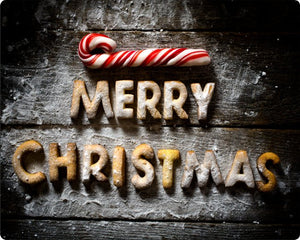 Merry Christmas Aluminum Sign with Candy Cane and Cookies #1