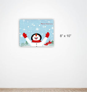 Merry Christmas Aluminum Sign Featuring Frosty the Snowman #5