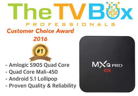 MXQ Pro 4K Ultimate Android TV Box - The TV Box Professionals