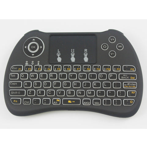 100pcs - Smart Backlit H9 Mini Keyboard with Touchpad - The Tv Box Professionals