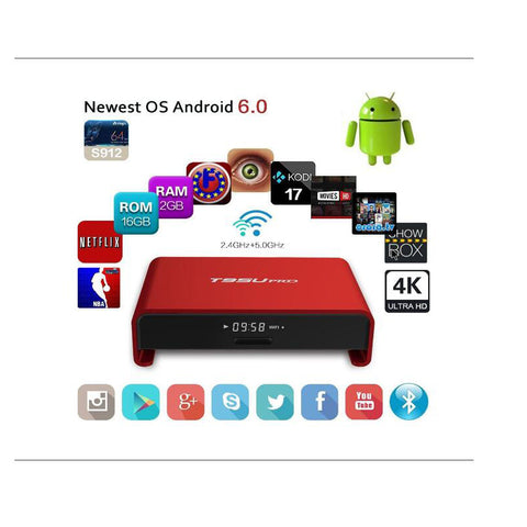 5pcs T95U PRO S912 Octa core 2GB/16GB - The TV Box Professionals
