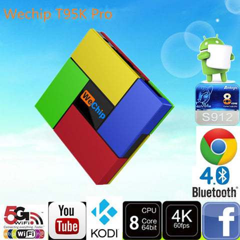 5pcs T95K PRO Octa Core 2GB 16GB Bluetooth - The TV Box Professionals