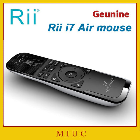 Genuine Mini Fly Air Mouse Rii i7 2.4G Wireless Remote Combo Built-in 6 Axis for PC/Android Tv Box/X360/PS3 Motion Sensing Gamer - The Kodi Box Professionals Buy Android TV Boxes