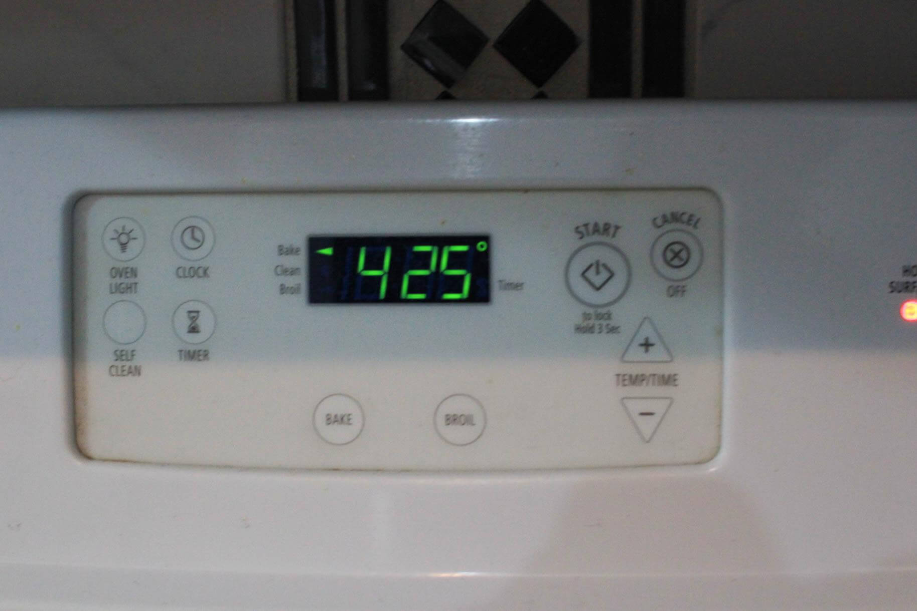 Oven at 425 F