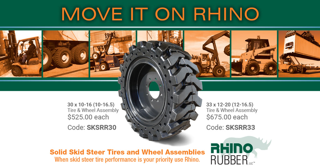 Solid Skid Steer Tire and Wheel Assemblies PROMO