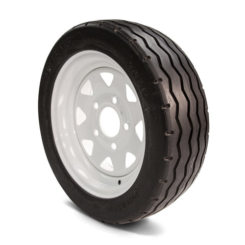 480x12 Flat Free Golf Cart & Industrial Vehicle Tires & Wheel Assembly - Industrial Rubber Tires
