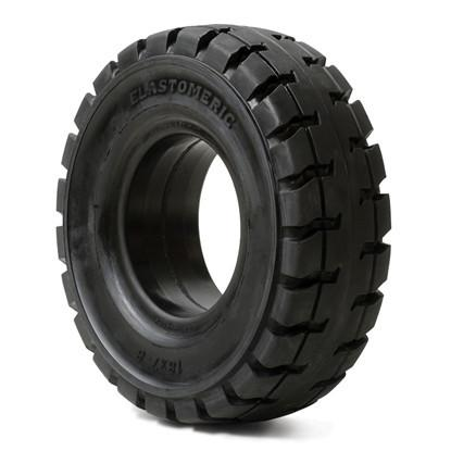 "Solid Resilient Forklift Tires 23x9-10 - 6.5"" Rim Width - Industrial Rubber Tires"