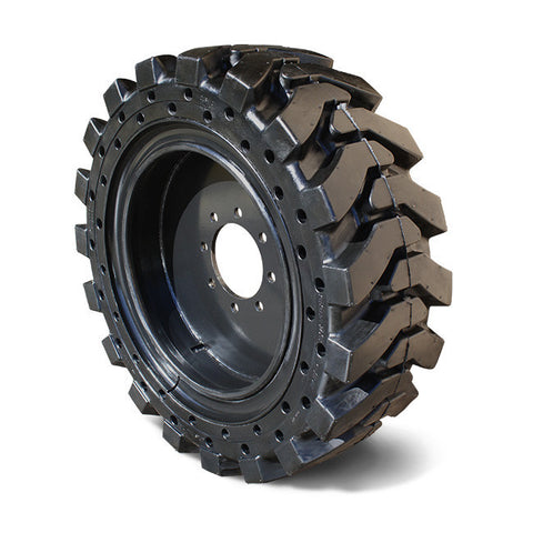 "Skid Steer Tire 30x10x16 8-hole wheel (10-16.5) 6.5"" Rim Width - Industrial Rubber Tires"