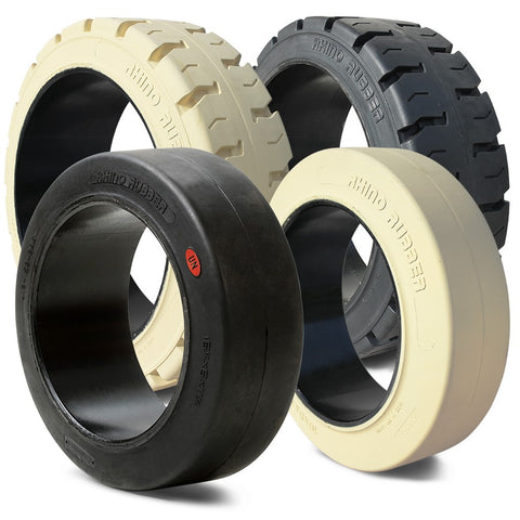 Solid Press On Airless Forklift Tires 10x4x6.5 - Industrial Rubber Tires