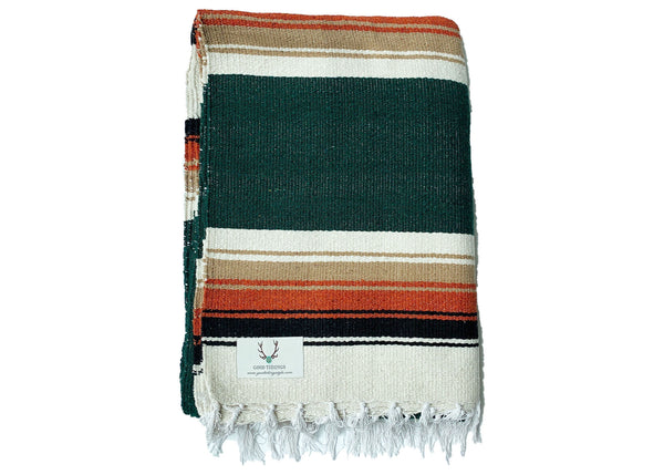 Marfa Navajo Style Blanket Hunter Green - Good Tidings