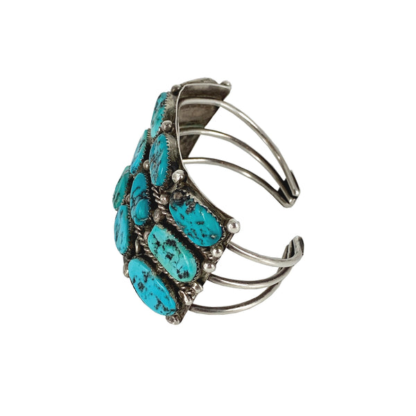 Magic Stones Vintage Turquoise and Sterling silver bracelet - Good Tidings