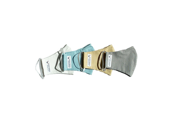Adult Masks - Set of 4 - White, Light Blue, Tan, Light Grey - Good Tidings
