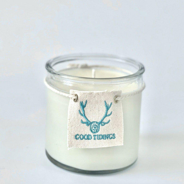 Aqua Turquoise Candle - Glass - Medium 15 OZ-Candle-Good Tidings