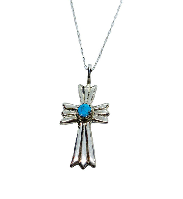 Cross Sterling silver Necklace Ada-Necklace-Good Tidings