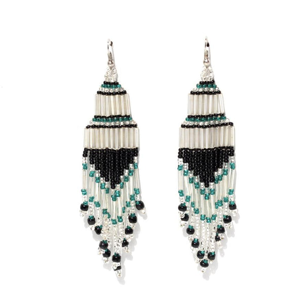 Encuentro Beaded Boho Earrings - Ivory-Earrings-Good Tidings