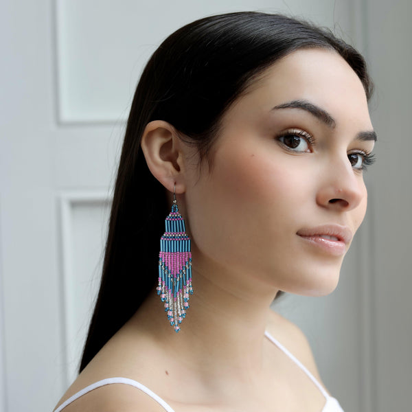 Encuentro Beaded Boho Earrings - Lazuli-Earrings-Good Tidings