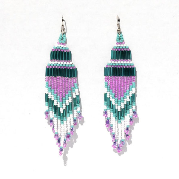 Encuentro Beaded Boho Earrings - Pink-Earrings-Good Tidings