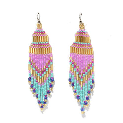 Encuentro Beaded Boho Earrings - Rosa-Earrings-Good Tidings
