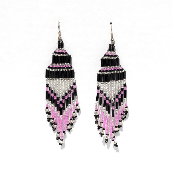 Encuentro Beaded Boho Earrings - Rosy-Earrings-Good Tidings