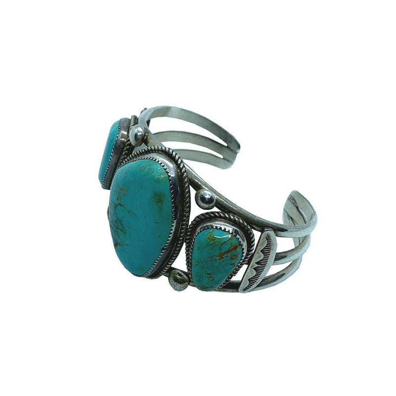 Gallup Earth Cuff Turquoise and Sterling Silver Bracelet-Bracelet-Good Tidings