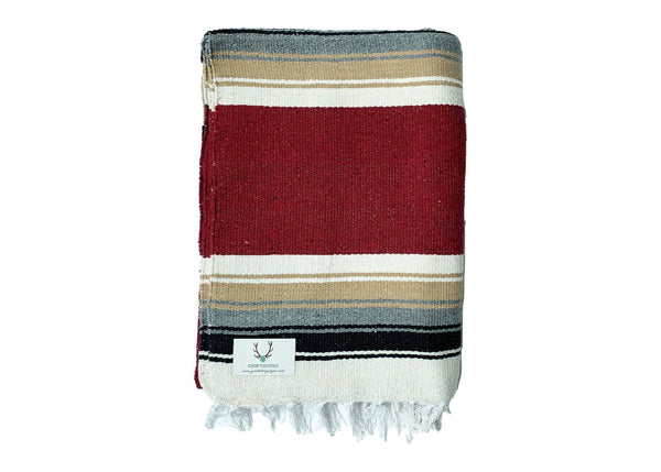 Marfa Navajo Style Blanket Burgundy - Good Tidings