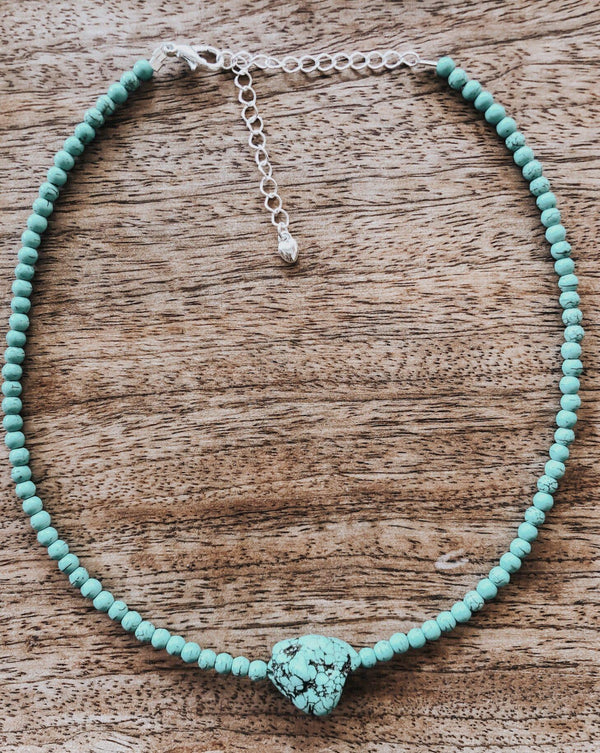 Krystie Salabak Turquoise and Sterling Silver necklace-Necklace-Good Tidings