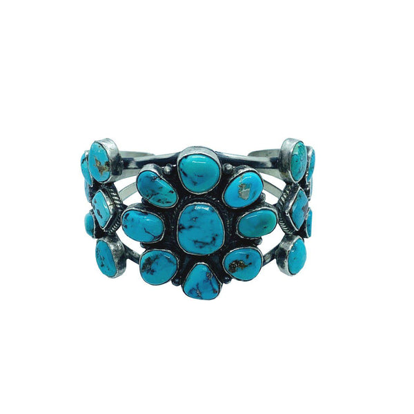 Millicent Turquoise and Sterling Silver Navajo Collectable Cuff-Bracelet-Good Tidings