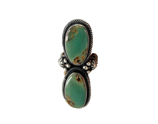 Rociada Green Turquoise and Sterling Silver ring-Ring-Good Tidings