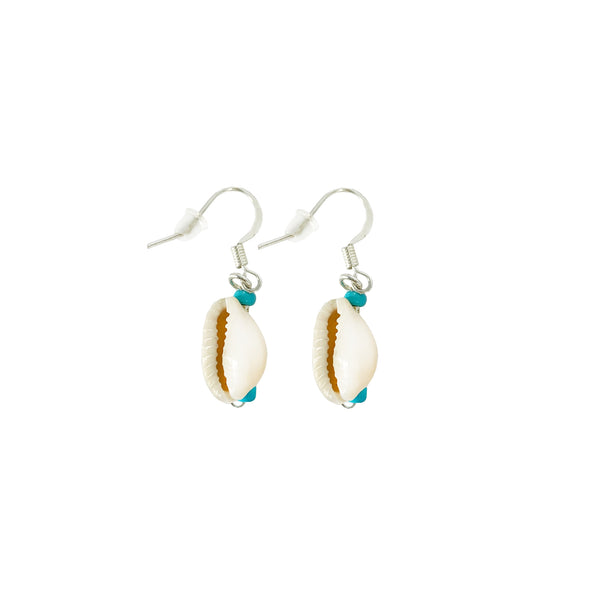Krystie Salabak delicate Turquoise and Shell Earrings. - Good Tidings