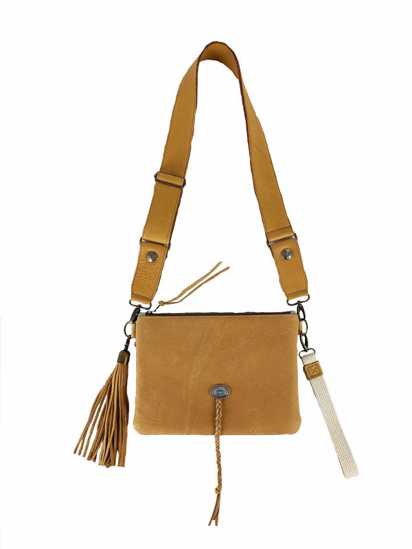 The Salida Tan Leather-Weekender Bags-Good Tidings