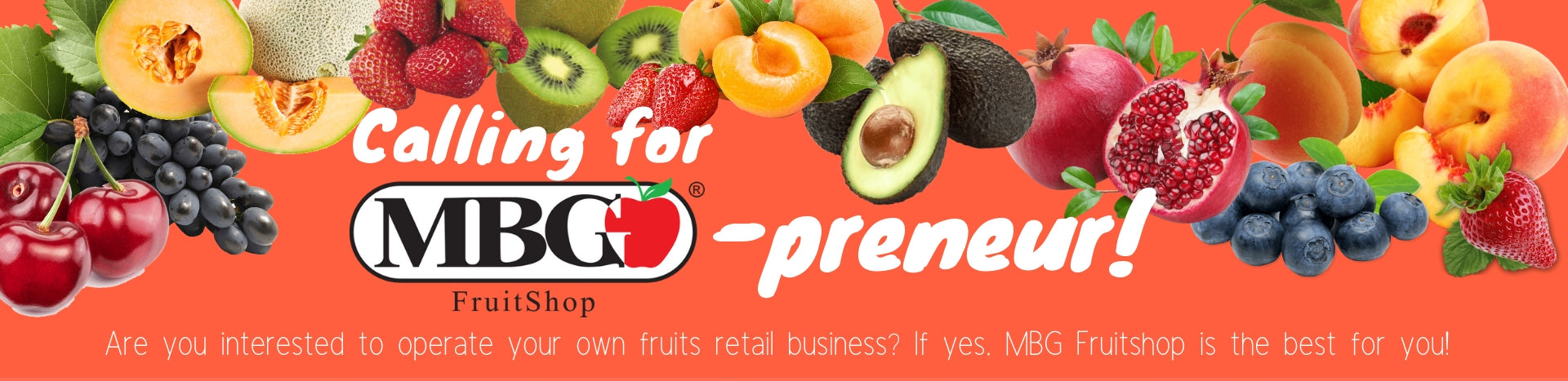 Are you interested to running your own fruits retails business? It yes, MBG Fruitshop is the best for you!