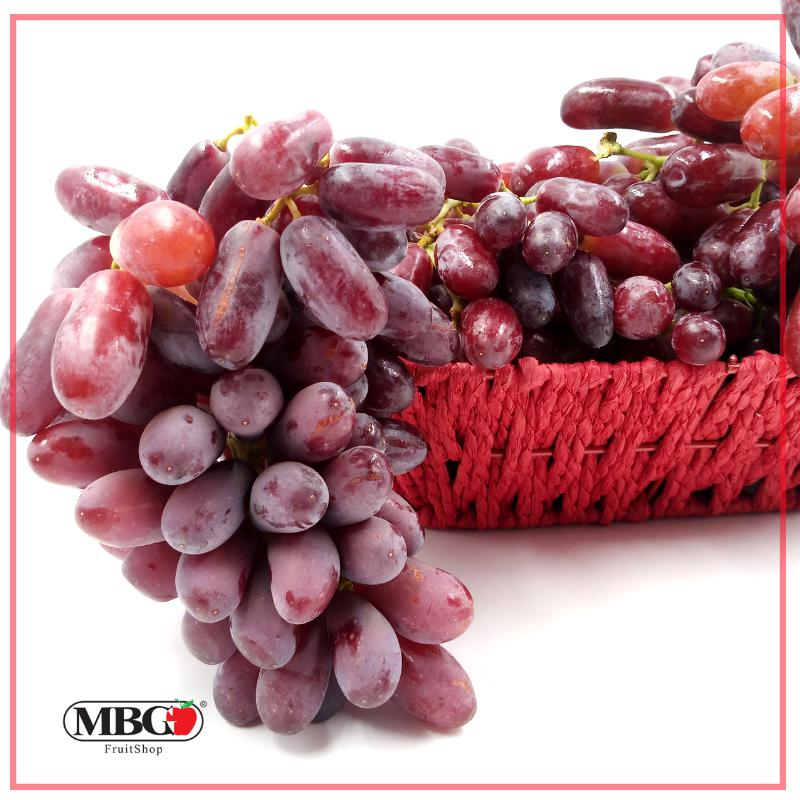 Australia Long Crimson Red Grape [800g/Pack]-Grapes-MBG Fruit Shop