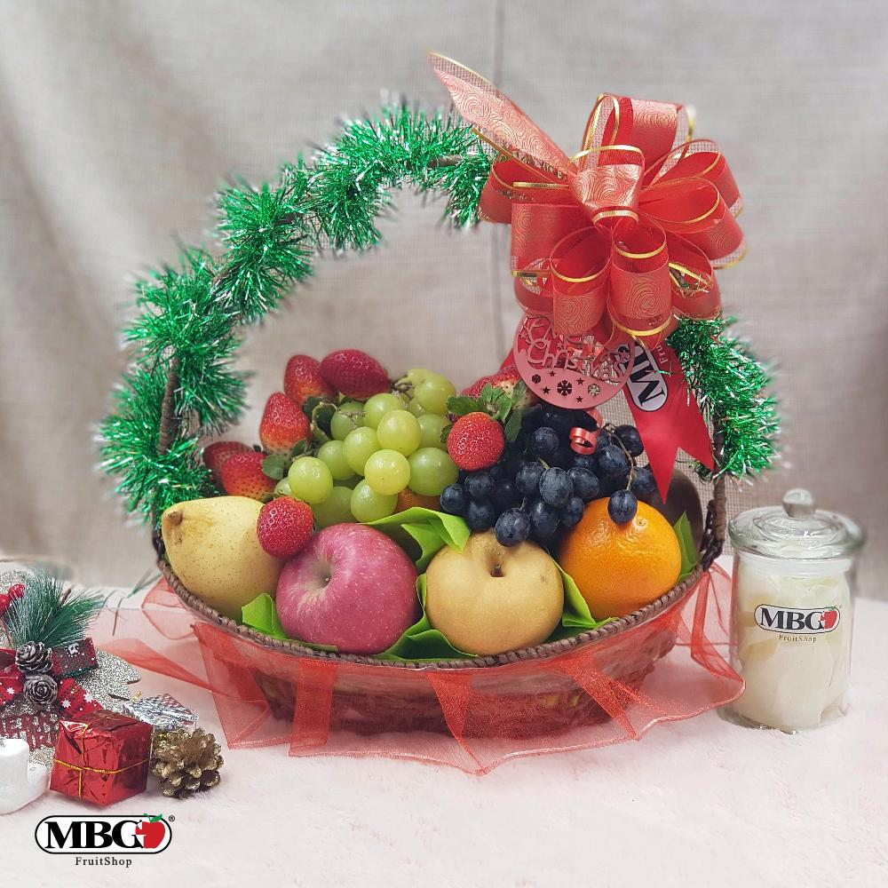 Christmas Fruit Basket (9 Types of Fruits)-Xmas Special-MBG Fruit Shop