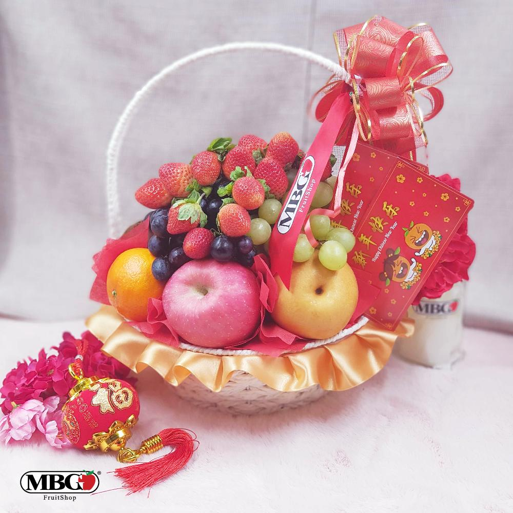 CNY Fortune Basket Fruit Basket (8 Types of Fruits)-CNY Special-MBG Fruit Shop